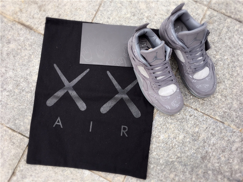 "cb289583ebda KAWS x Nike Air Jordan 4 ""Cool Grey"" Shoes on Storenvy"