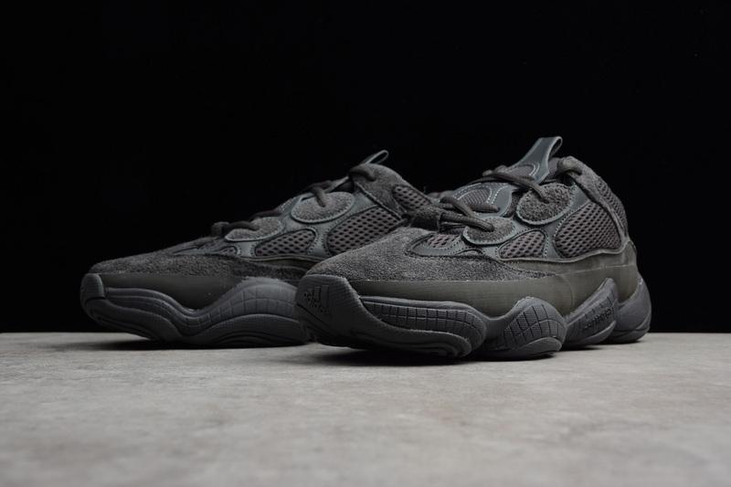 e66ab6bc8 ... Adidas Yeezy Desert Rat 500  Utility Black  F36640 Shoes - Thumbnail 4