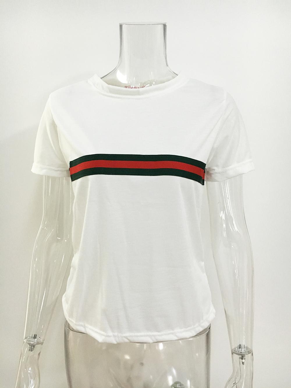 74741dbdc 1980 Cropped Tee T-shirt with Gucci Stripe Print · Ohya Fashion ...