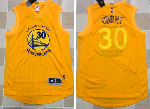 bf698c5f96c Warriors #30 Stephen Curry Gold AU 2017 New Stitched NBA Jersey on ...