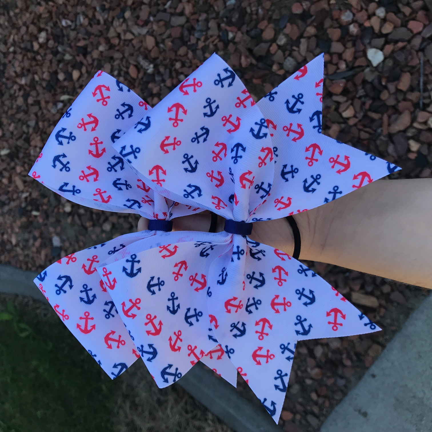 Red, White, and Blue Anchor (June 2017 Junior Spirit Box) Bow from Bow  Boutique