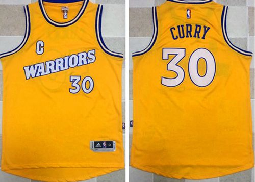 Warriors  30 Stephen Curry Gold New Throwback Stitched NBA ... 0ef3e89875a7
