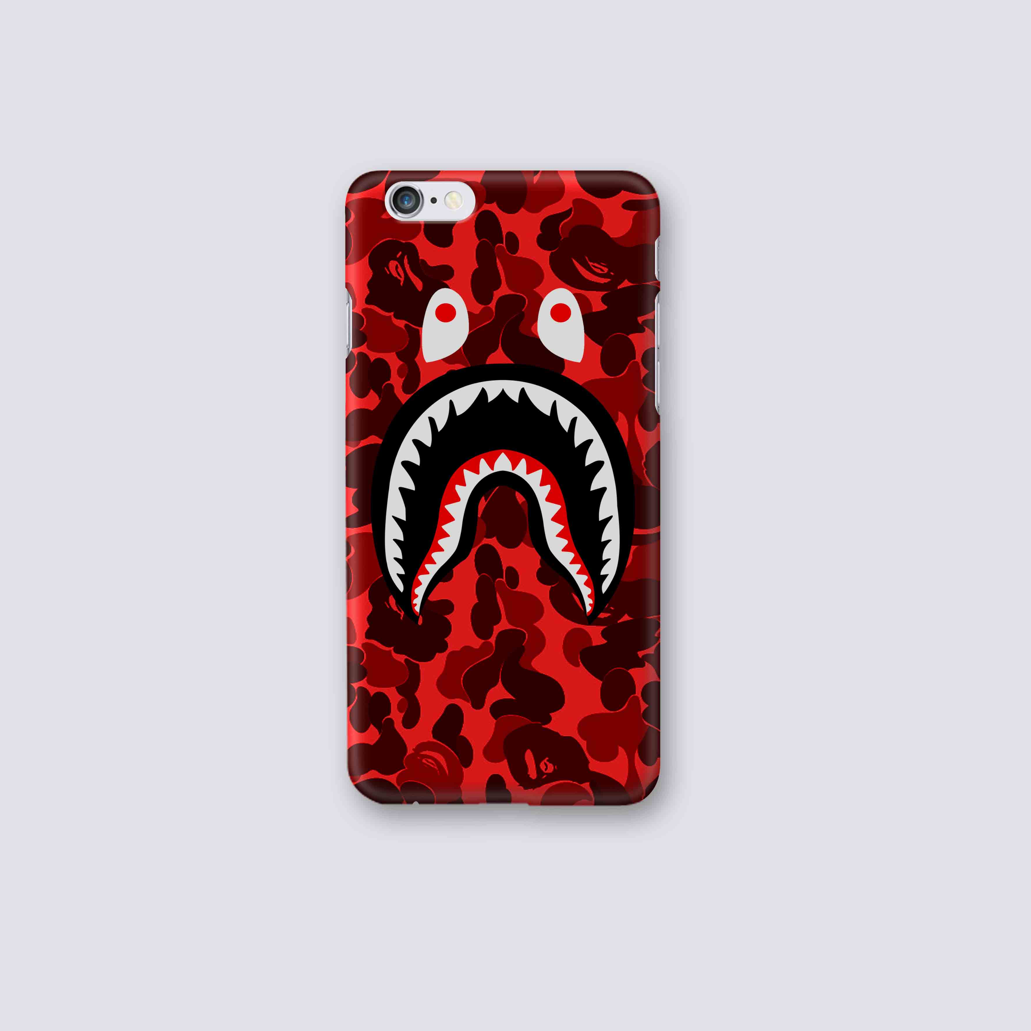 the best attitude 94c91 033b8 Bape Red Camo iPhone and samsung cases from HERYU