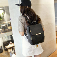 2d695a097c ... Elegant Pink Funky Lady Solid Simple Square PU Drawstring Hasp Satchel  Backpack - Thumbnail 4