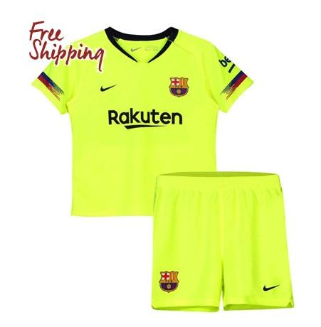 0a471871cf4 Kids Young 2018 2019 Custom Fc Barcelona Jersey Away