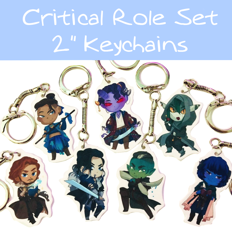 Critical Role Keychain Set from ETs ★ DESIGNS
