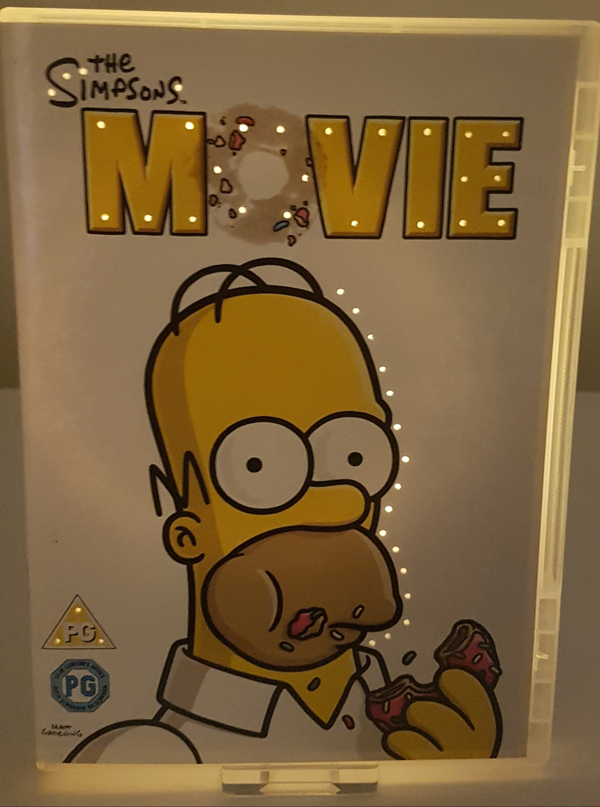 The Simpsons Movie Dvd Neon Nightlight Any Dvd Or Bluray Made To Order Neonglowdvds Online Store Powered By Storenvy