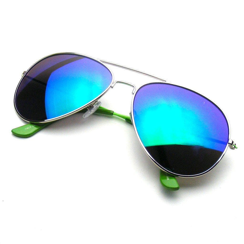 Reflective Classic Premium Flash Full Mirrored Aviator Sunglasses on ... 9b22c2698ce
