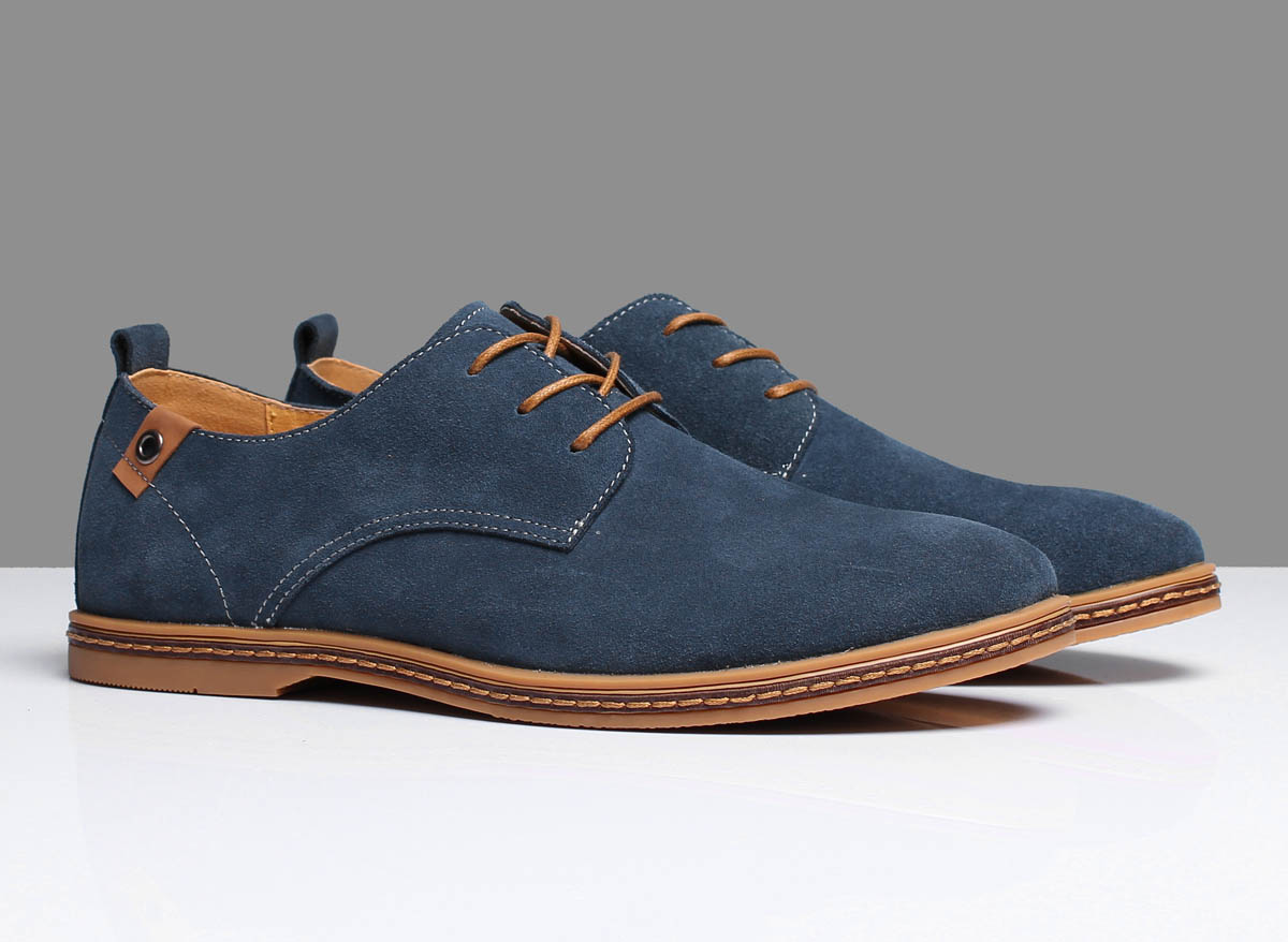 a0d12f792 Casual Man Blue Suede Shoes · Hipster Penguin · Online Store Powered ...