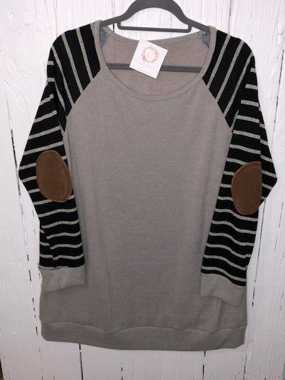247479f35d1 PLUS SIZE - Elbow patch sweater · Charlton s Closet · Online Store ...