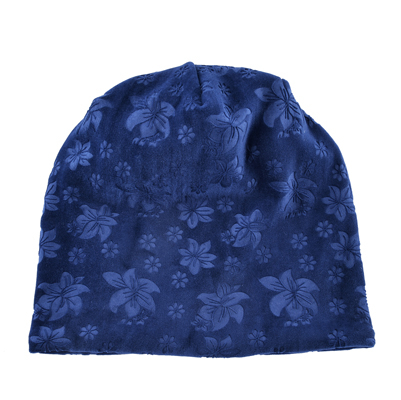 2fc7a01039f9e Autumn Winter Hats For Women Soft Embossing Flowers Bonnet Caps Ladies  Double Layer Warm Skullies Beanies
