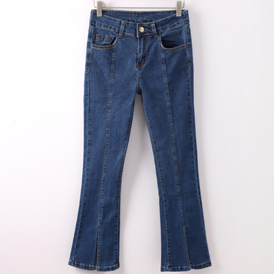 8c0c85a0ca0f High waist flare jeans pants women split slim calca jeans feminino capris  ladies denim trousers woman