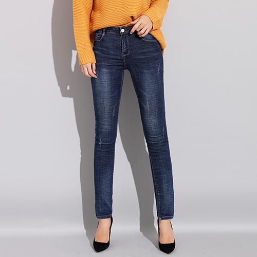 85a10ed9c5e Women Jeans Pants High Waist Elastic Skinny Denim Female Trousers Light Blue  Jeans Women's Plus Size