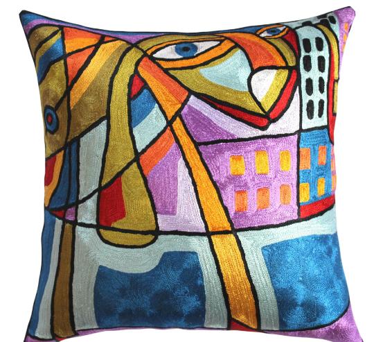 Kandinsky-modern accent-decorative pillow cover musical hand ...