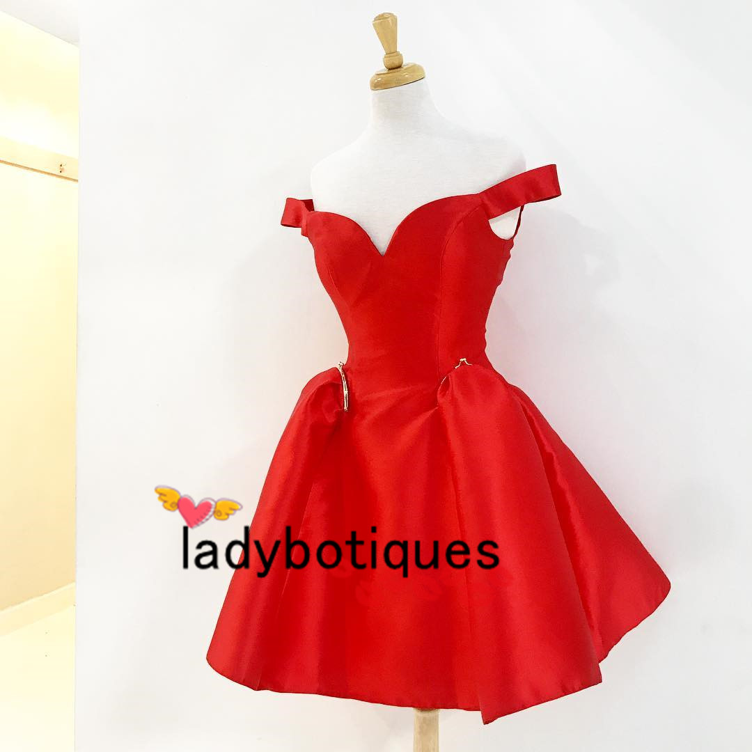 c9b4400caef Princess Off the Shoulder Short Red Party Dress on Storenvy
