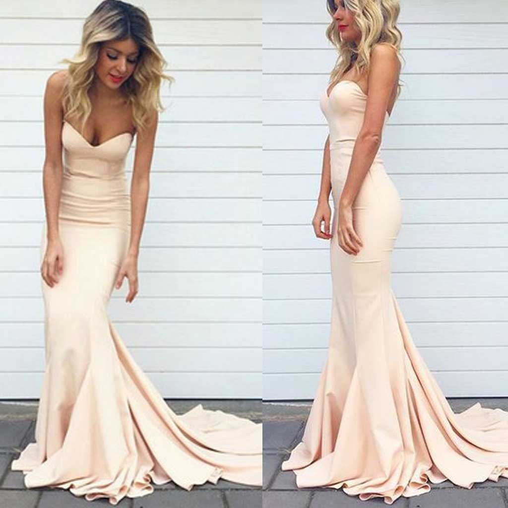 d9677689d185 Champagne Color Mermaid Prom Dress, Ball Gown, Evening Dress,Birthday Party  Gown, Homecoming Dress Long, Back to Schoold Party Gown YP0258 on Storenvy