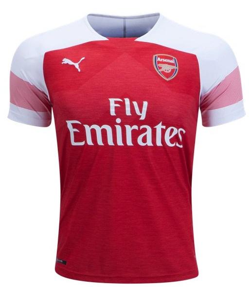 quality design aa74c 730a4 Custom Arsenal Home Soccer Jersey 18/19 Red Football Shirt Men