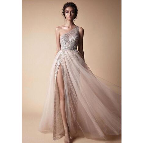 a630f182ec New High Side Split Sequined Wedding Dresses Bohemian One Shoulder ...