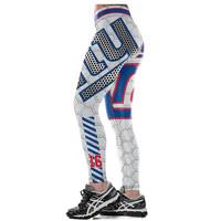 3d436b67b83cf ... New York Giants Workout Sports and Fitness Workout Yoga Pants Football  Leggings for Women - Thumbnail ...