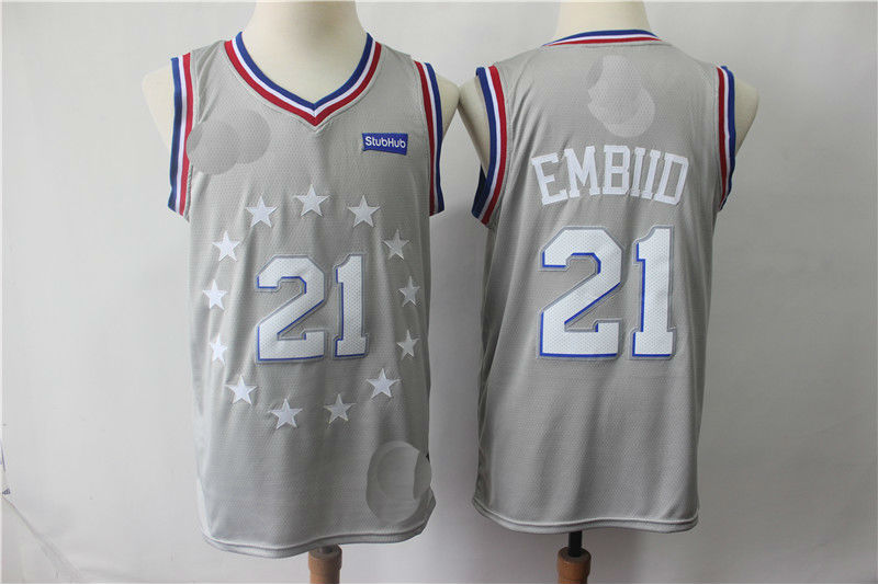 975f4ebdf Men s Philadelphia 76ers 21  Joel Embiid Jersey · teamjerseyinc ...