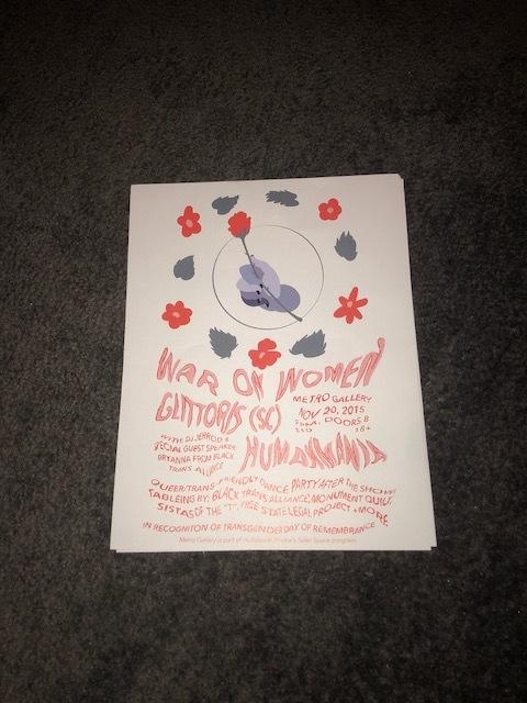 Show Poster War On Women Tdor Show From War On Women Merch