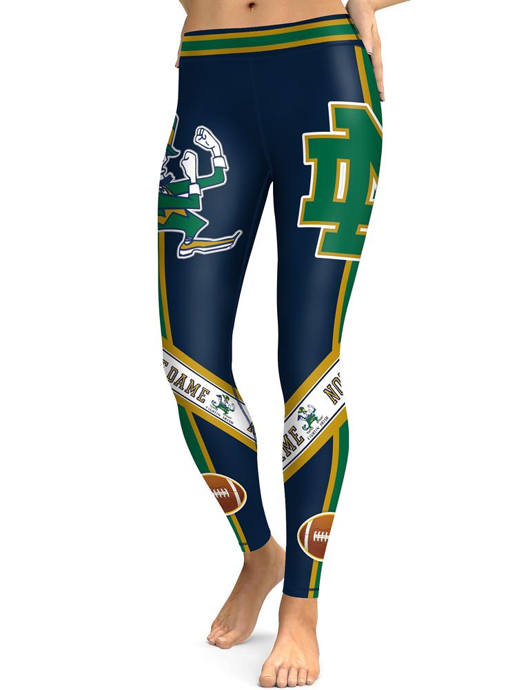 96b7dd4c34682 Notre Dame Fighting Irish Yoga Pants Women Workout Football Leggings on  Storenvy