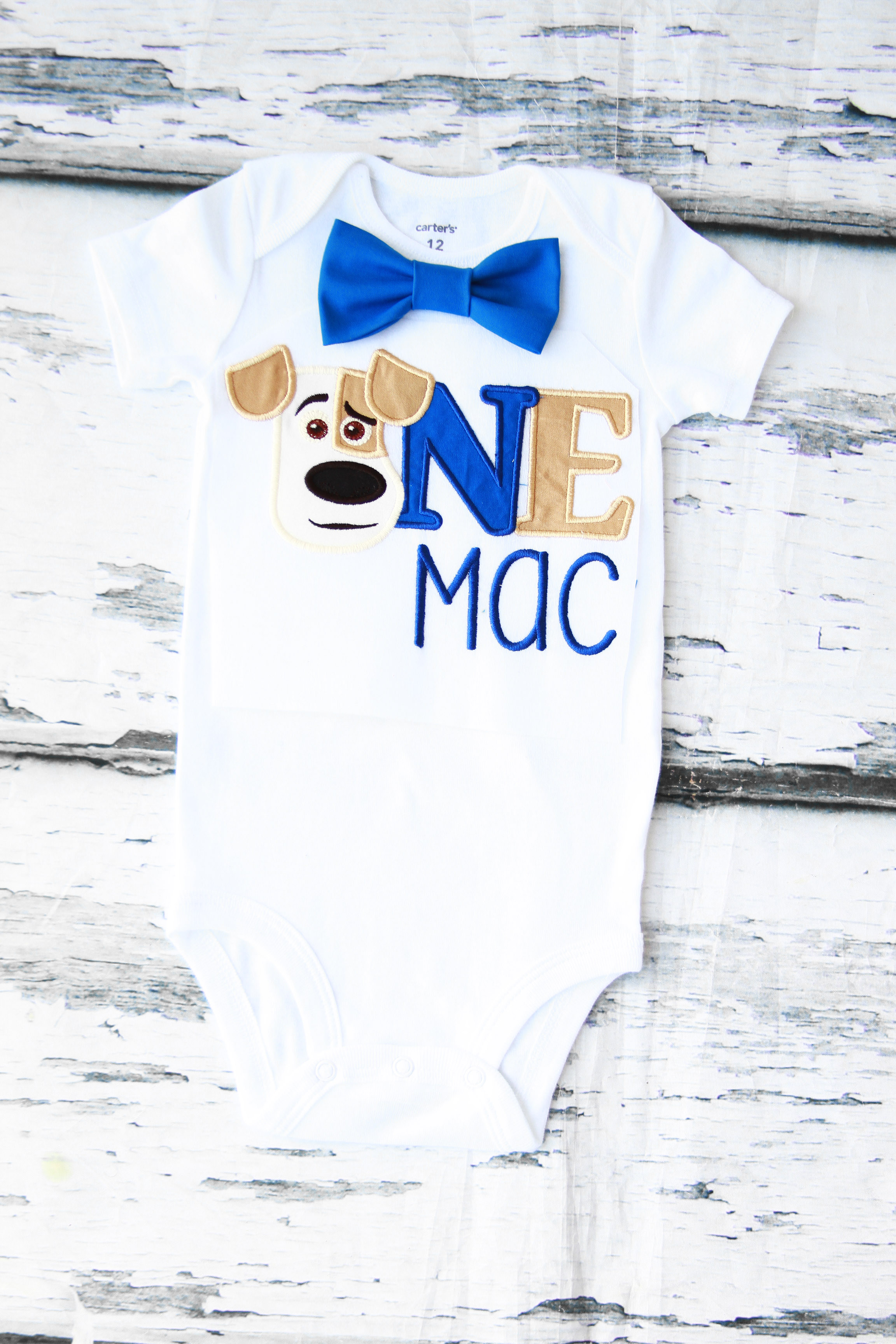 Baby Boy First Birthday Max Puppy Dog Outfit Secret Life Cake Smash Bodysuit Personalized Themed On Storenvy