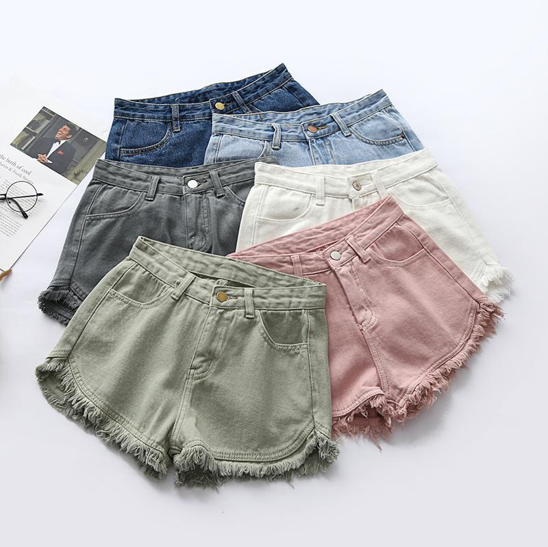 761dabefbfc3 COLORFUL DENIM SUMMER CASUAL SHORTS · shopcong · Online Store ...