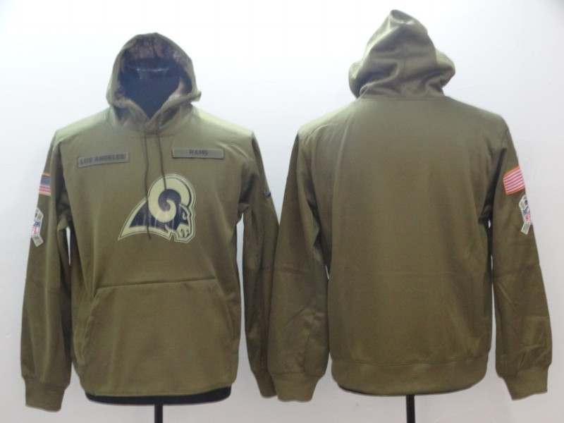 Mens Los Angeles Rams Salute to Service Sideline Therma Performance  Pullover Hoodie – Olive 2ec6a4b5f