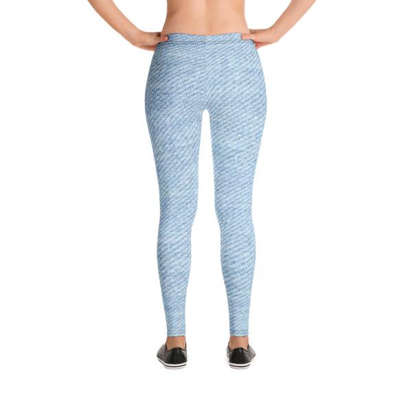 68cdc3c787f090 Light Blue Denim Look Leggings · QueenLadyLike · Online Store ...