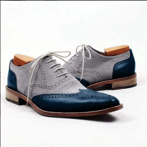 88823080936 Handmade Men two tone shoes
