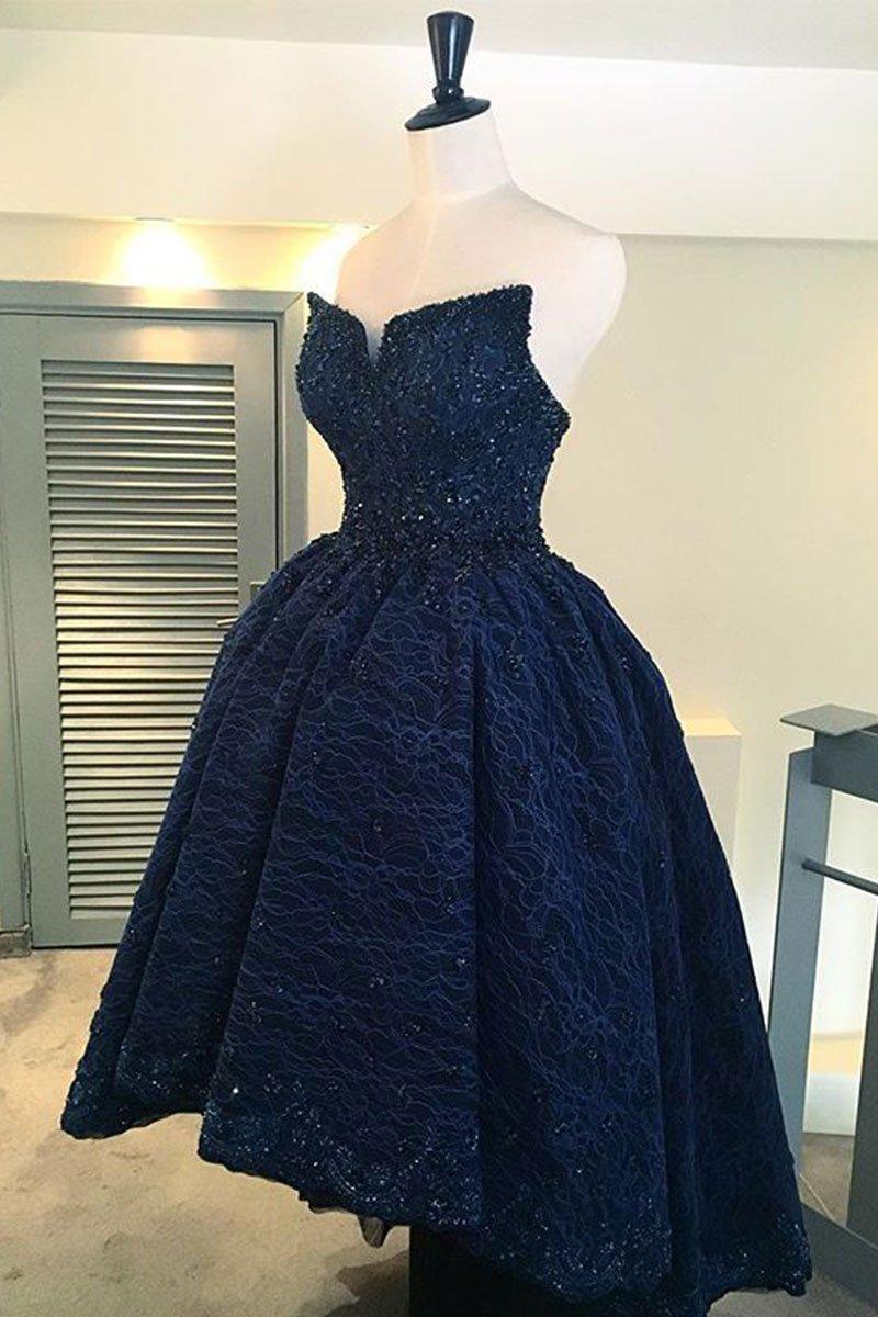 Blue High Low Prom Dresses
