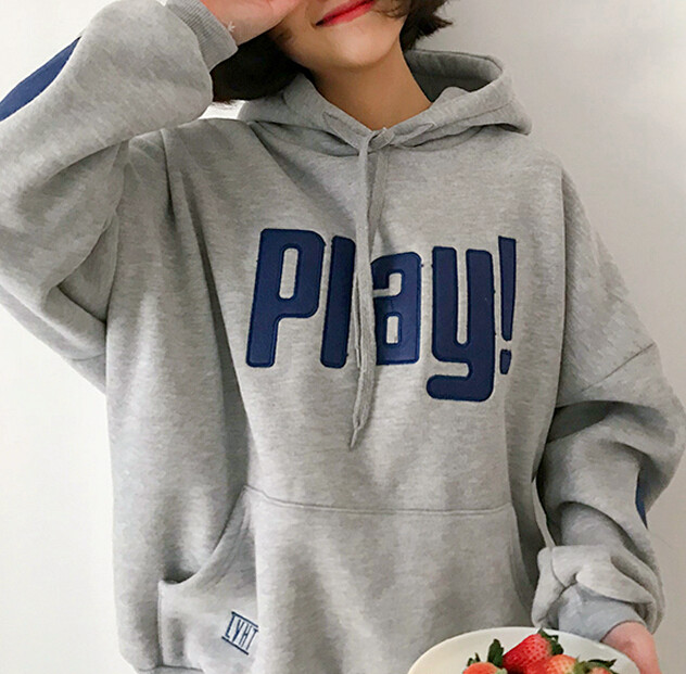 e204fd0b8 Play! Embroidery Hoodie Sweatshirt on Storenvy