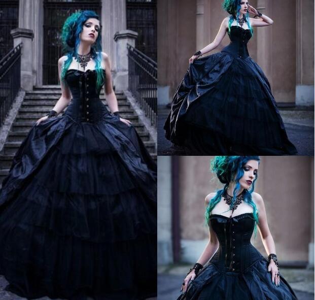 Gothic Wedding Dress.Black Romantic Gothic Wedding Dresses Str From Misszhu Bridal