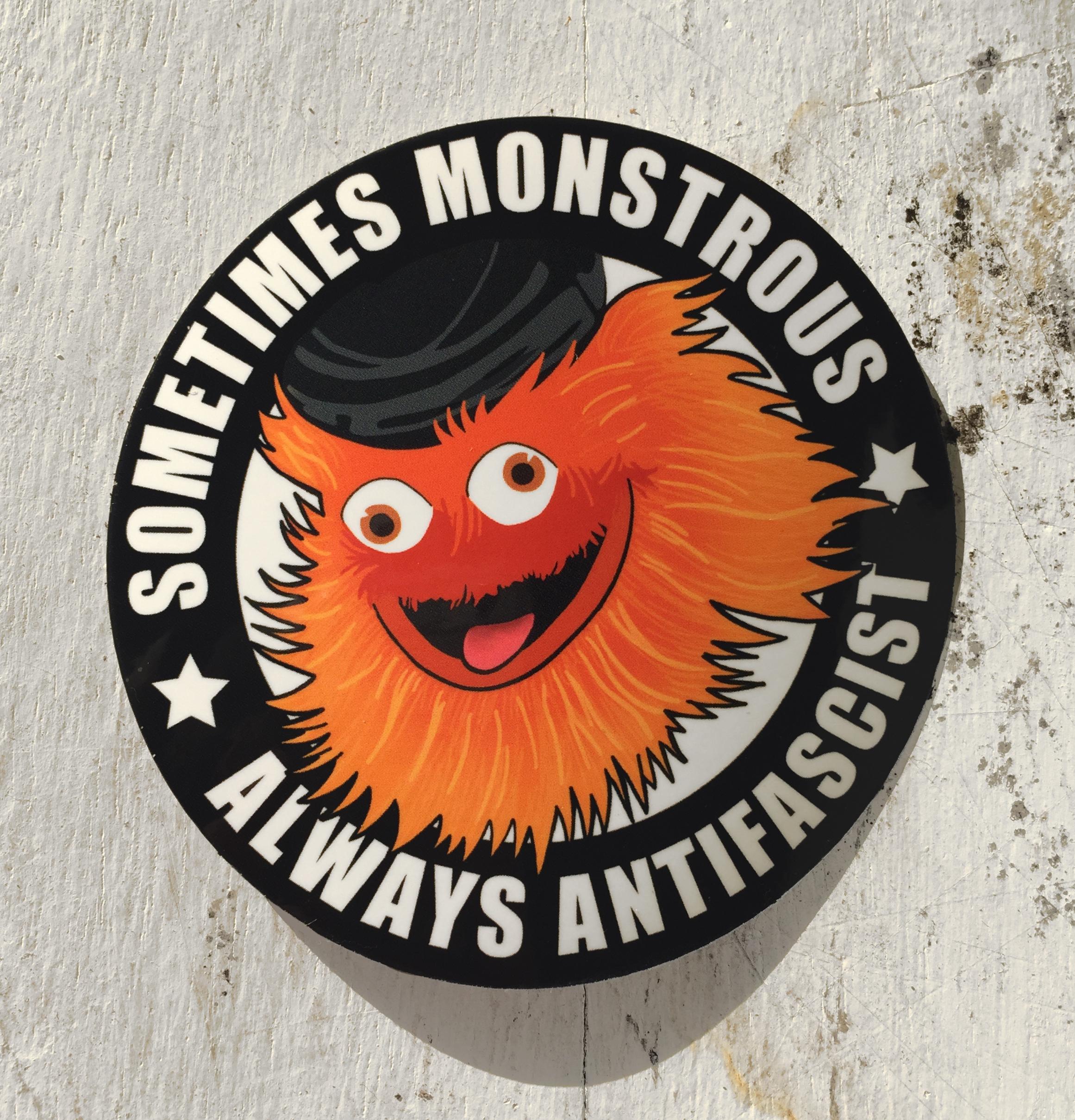 Antifa Gritty sticker from Stuffs by Zola