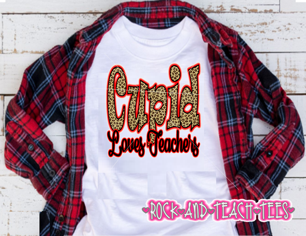 1037b459f36 Cupid loves teachers Valentine s Day shirt on Storenvy