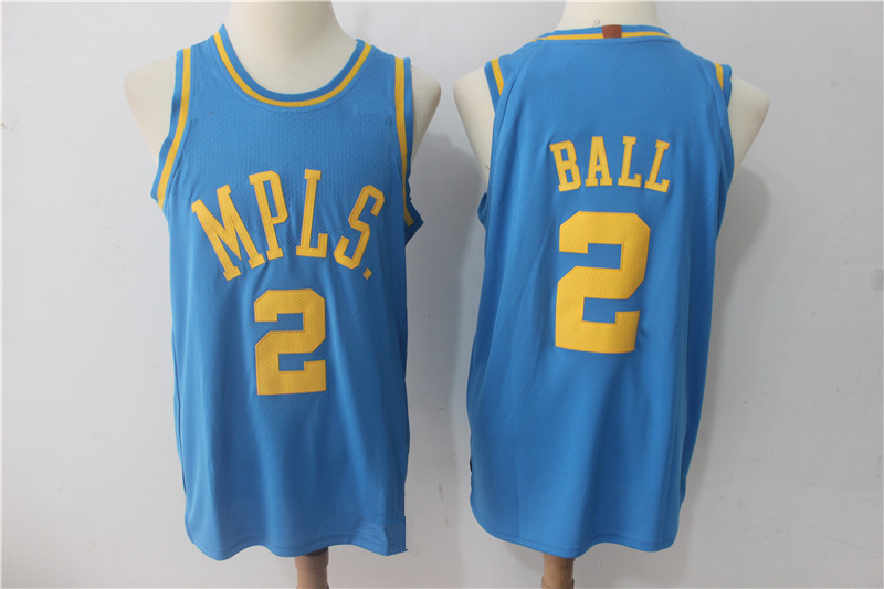 ebbd1d06b18 Men's Los Angeles Lakers 2 Lonzo Ball MPLS Basketball Jersey ...