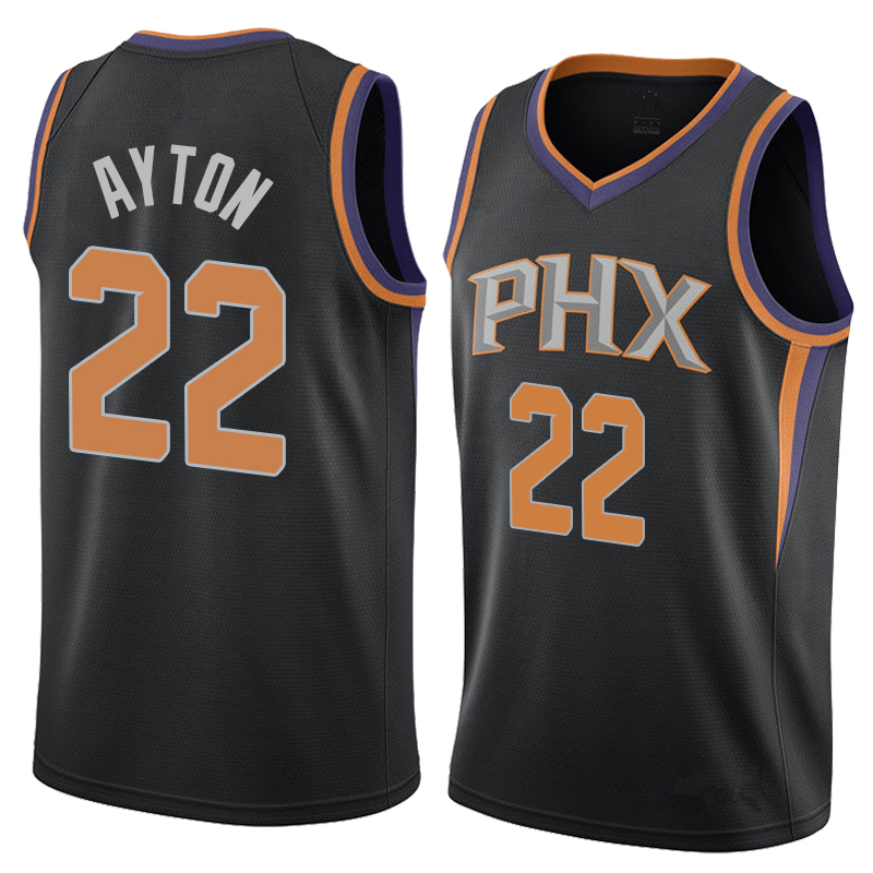 c65ebe8b327 Men s Phoenix Suns 22 Deandre Ayton Black Basketball Jersey · vsport ...