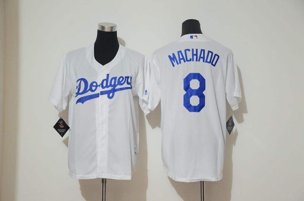 Men s Los Angeles Dodgers  8 Manny Machado Cool Base Player Jersey ... 3cc36ae0b6d