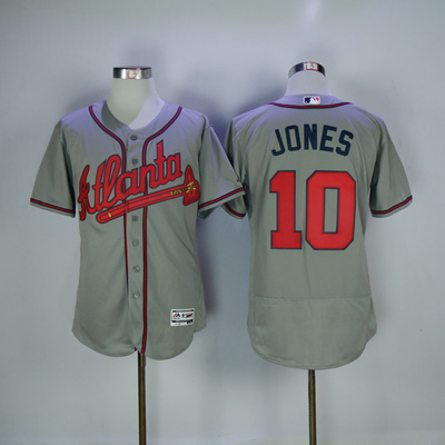 d0599a875 Men s atlanta braves  10 chipper jones flex base player jersey - Thumbnail 4