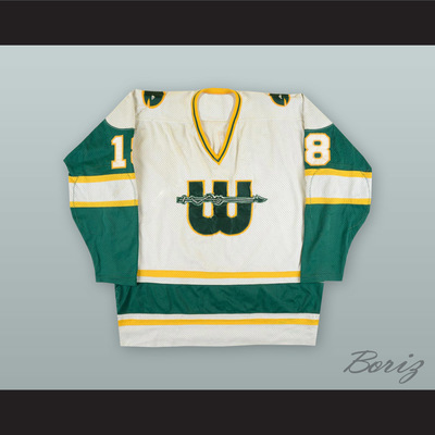 f51ed210651 1978-79 wha marty howe 18 new england whalers white hockey jersey -  Thumbnail 2