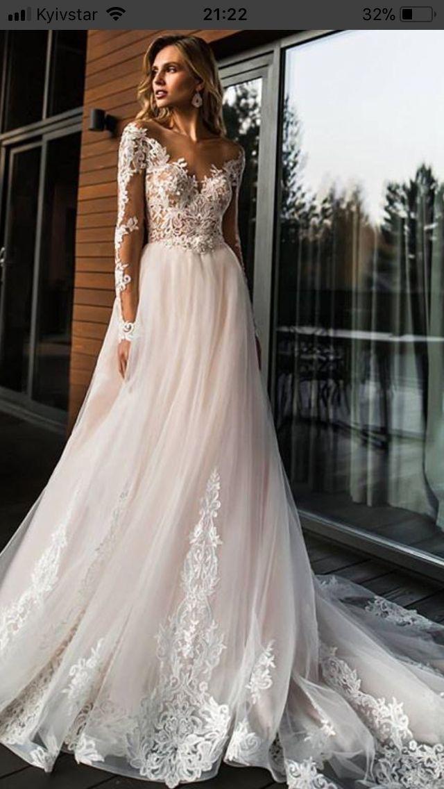 badc291f9552 2019 Elegant Lace Off Shoulder Wedding Dress,Long Sleeves Appliques Bridal  Dress,High Quality