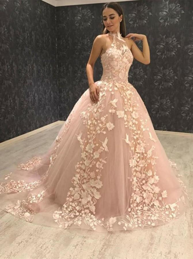 Prom Dresses with Pink