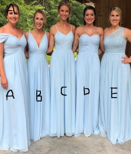 5 Styles Mismatch Long Bridesmaid Dresses