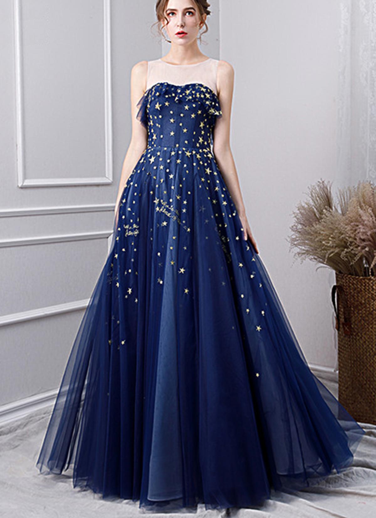 Girls Prom Dresses Blue