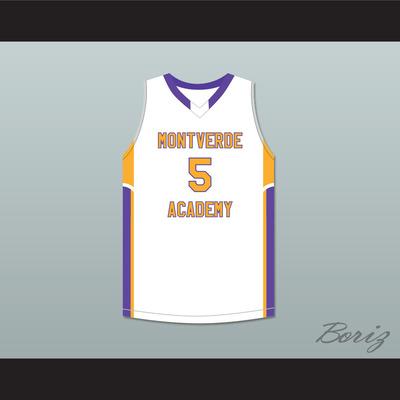 b5111b4d1 R.j. barrett 5 montverde academy eagles white basketball jersey