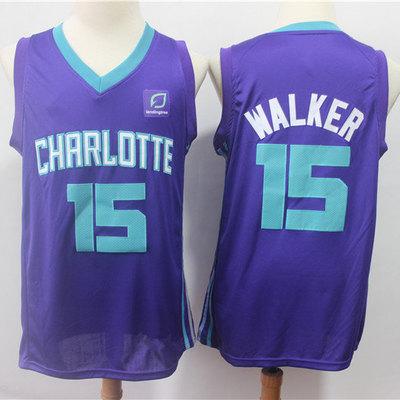 95f3809d8afe Men s charlotte hornets kemba walker fanatics branded purple fast break  replica jersey - statement edition
