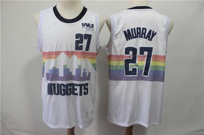 buy online fbb7e 813a7 Men's Denver Nuggets Jamal Murray White 201819 Swingman Jersey City from  haosjers