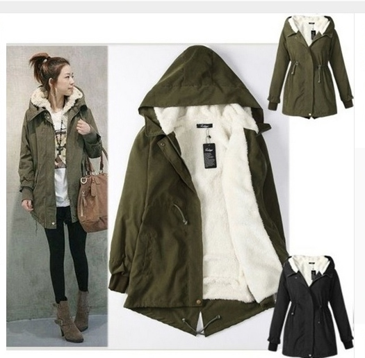Womens Parka Jacket Green