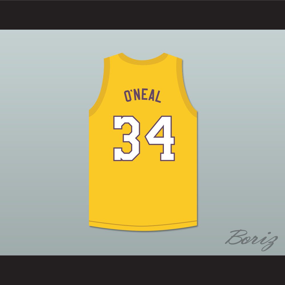 sale retailer 42cb5 0ece9 Shaquille O'Neal 34 Super Lakers Basketball Jersey Shaq and the Super  Lakers Skit MADtv from acbestseller